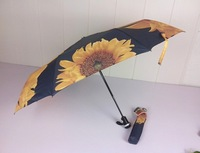 (Three Elephants,BEST QUALITY) San xiang folding umbrellas key anti-uv 10 sunscreen automatic umbrella
