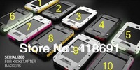 New High Quality Gorilla Tempered Glass Extreme Dropproof Shockproof Dirtproof Waterproof Aluminum Metal PE Case for iPhone 4 4s