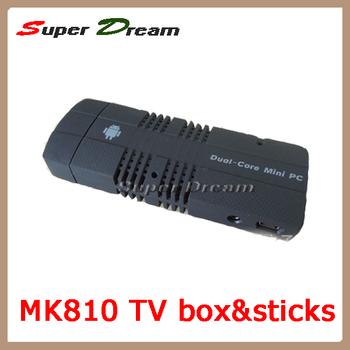 New smart MK810 Android 4.1.2 Mini PC TV Box&Stick Amlogic AML8726_MX 1.6GHz Cortex A9 Dual core 1GB/4GB 3D