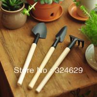 Free shipping garden tools DIY plant tool 3pcs(shovel + rake +spade)/set