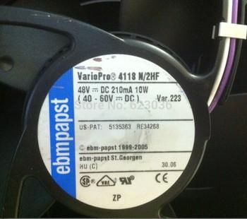 Fans home Ebmpapst  12038 line aluminum frame fan 4118n/2hf 48v 10w