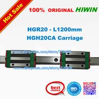 100% genuine original HIWIN BRAND Linear Guide1lot  2pcs HGR20 1200mm rail with 4pcs HGH20CA carriage
