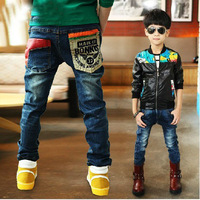 Free shipping 2014 New Spring Autumn Boys jeans Fashion Style suit for 2-13 Years Old Children Jeans Trousers  B029