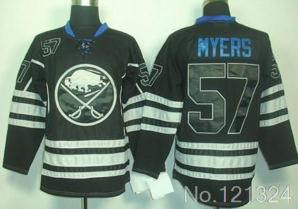 Free shipping Sabres #57 Tyler Myers Ice Hockey Jersey white black(China (Mainland))