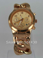 Free Fast Shipping Link Watch Rose Gold for Women with Calendar Stainless Steel Fashion Luxury Brand Wrist Lady Watch