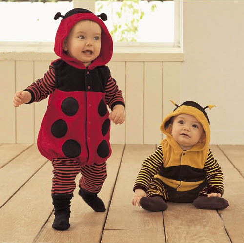 Baby Clothes Toddler Fleece Ladybird Bee Costume Fancy Dress Romper Outfit 0 24M(China (Mainland))