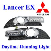Top Quality Lancer EX 2010 2011 2012 Mitsubish  Daytime Running Lights LED Daylight DRL  Auto Car Fog Lamp 2pc Free Ship HK POST