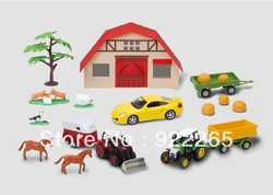 All kinds of Farm Vehicles Alloy Model Set in scale 1:43(China (Mainland))