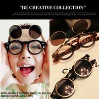 Double layer flip sunglasses male sunglasses fashion vintage leopard print female star style sun glasses myopia