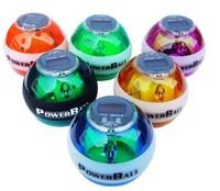 New PowerBall Gyroscope LED Wrist Strengthener Ball SPEED METER Power Grip Ball Power Ball Freeshipping 6colors