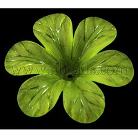 Transparent Acrylic Beads,  Frosted ,  Flower,  GreenYellow,  about 33mm in diameter,  8mm thick,  hole: 2mm