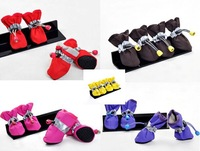 Free shipping! 4pcs/set Pet Dog Shoes/footwear Booties Spring rain Boot 7 sizes pet products  hot selling products