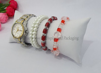 Promotional Jewelry Organizer Bracelet Watch Anklet Large Pillow Bracelet Holder Display White Leather Pillow, FREE SHIPPING