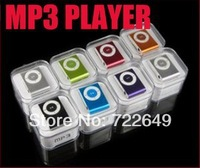 cheapest MINI Flash Gift clip MP3 Player with Clip control 8 color support 8GB Micro SD(TF) card  300pcs only mp3