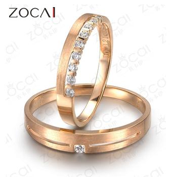 пара zocai бесконечности 0,14 кт ч/алмазов си его и ее обручальное кольцо кольца мноёеств круглый cut 18k розового золота ювелирной