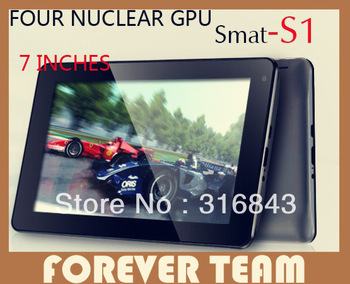 Free shipping pipo S1 7-inch 8G dual core tablet 4 core GPU RK3066 Android 4.1 Front-facing camera USB HDMI OTG 800 x480