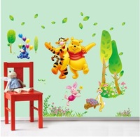 bear cartoon cute wall sticker kindergarten children room decorative vinyl removable poster wallpaper