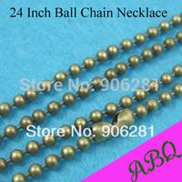 60cm (24 inch) Antique Bronze 2.4mm ball chain necklace, 60cm Antique Bronze Ball Chain, Bead Chain 2.4mm Thick