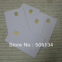 Free Shipping New White Blank PVC 4442 Contact IC Card With SLE 4442 Chip Smart Card,200pcs/lot