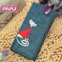 Ayu cat dollarfish wallet long design female wallet handmade ol hasp wallet 19.5*9.5*2cm