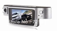 Free shipping X9000 Dual Camera 240degree wide-angle lens Car Camera Recorder DVR 2.7 inch TFT LCD DVR G-sensor