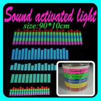 10sets/lot wholesale Genuine Equalizer Sound Active flashing EL car Sticker 90*10cm Size 5colors Car decorative lights
