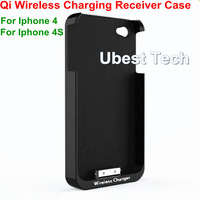 Qi Wireless Charging Receiver Case For iPhone 4 Iphone 4S Charger Protective Cover Free Shipping