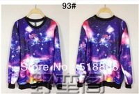 Free shipping!! Fashion Women Galaxy Tie Die Galaxy Pullover Sweater,Hoodies, Sweatshirts