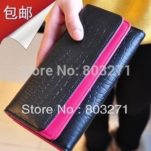 Women Wallet Vintage Embossed Stone Leather Pattern Double Layer Multifunctional Women's Wallet