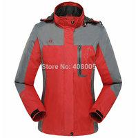 Spring & Autumn new womens outdoor sports jacket &caot fleece inside for women windproof waterproof climbing jacket  windbreaker