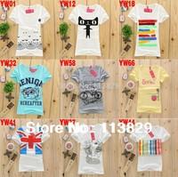 [Magic]Hot sale!!! Free Shipping 2014 New Design cotton t shirt Women Fashion Short sleeve women's t-shirt 69 models