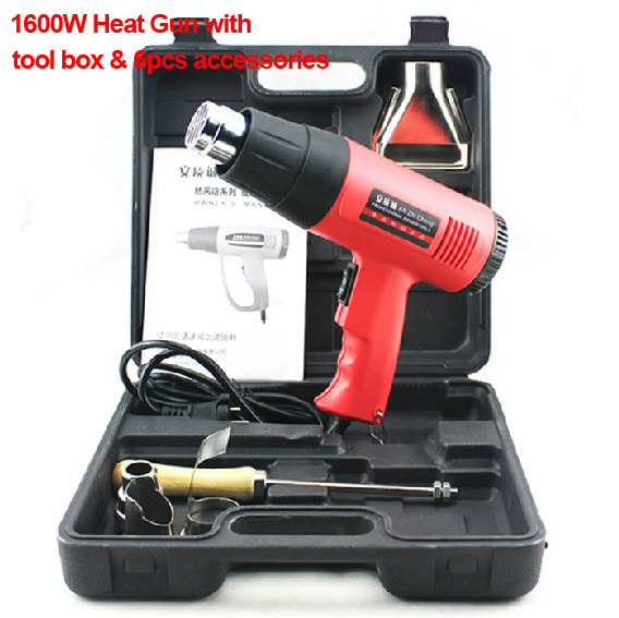 1600W Hot air Gun with tool box,electric power tool, heat air gun, Hot gun(China (Mainland))