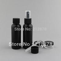 Free Shipping  6pcs/set Black PE  Sprayer Bottle And Cream jar  With Pvc Bag