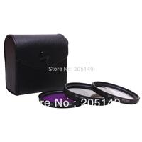 free shipping +track NO. 52mm Polarized PL+UV+FLD CAMERA FILTER Kit for camera D3100 D5000 D5100 D7000