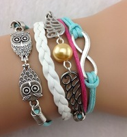 5pcs Bracelet - Infinity, Wings & Owls Charm Bracelet - Harry Potter Inspired Bracelet-Best Gift 890