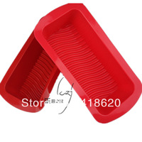 Free shipping factory wholesales silicone cake mould baking pan toast rectangle mould