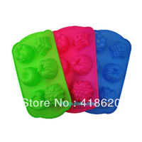 Silikit Free shipping wholesale 100% silicone cake mould baking tools silicon molds 3d soap mold silicone baking supplie6 flower