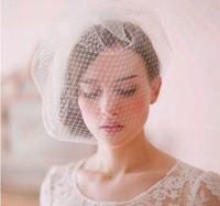 Stunning 1-layer tulle fine short wedding veil birdcage bridal veils hair mantilla veil wedding decoration accessories
