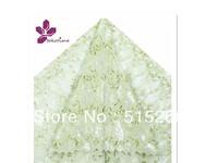 FREE SHIPPING BY DHL!African organza lace! Wholesale! 5yards/piece,big hand cut organza TKL1984,lemon green