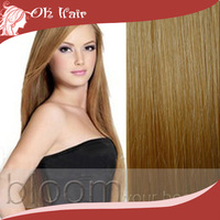 #27 Golden Blonde Clip in Remy 100% Human Hair Extensions Full Head 8pieces Straight Long Soft Silky