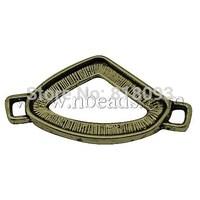 Tibetan Style Connectors,  Lead Free & Cadmium Free & Nickel Free,  Triangle,  Antique Bronze Color