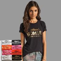 2015 fashion golden homies print lovers' women's men's unisex o neck short sleeve T shirt,big size,free shipping