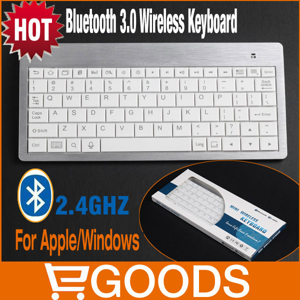 Free Shipping 8.9 Inch Bluetooth Wireless Keyboard Series FOR Apples,Windows Android OS,2.4G 10m Bluetooth Keyboard(China (Mainland))