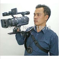 Free Shipping, Professional New Video capture stabilizer Bracket shoulder Rigs for any DV DSLR HD digital camera camcorder