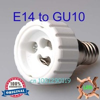 Free Shipping! 6pcs/lot wholesale&retail E14 to GU10 adapter high quality