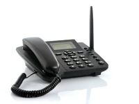 Sourcingbay Wireless GSM Desk Phone - Quadband, SMS Function free shippintg