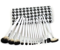 High Quality Makeup Brushes Professional 16 pcs Make Up Brush Set Goat Hair Cosmetic Brush With Classic Plaid Bag Free Shipping