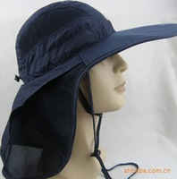 Hot summer sun hat! Long visor outdoor sun UV protection hat with backswing curtain cap! Sun hat Hiking hat cap!