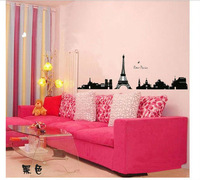 Paris Tower Romantic Wall Sticker Wall Mural Home Kids living room vinyl Decor Room Decor Lovers Room wallpaper