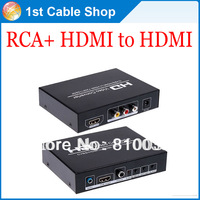 Free shipping&wholesale 1pcs/lot new New HD CVBS/AV NTSC/PAL+HDMI  to HDMI 720P/1080P HD Video Converter for Wii PS3 PSP